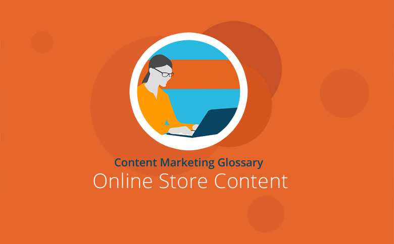 Graphic with Online Store Content headline