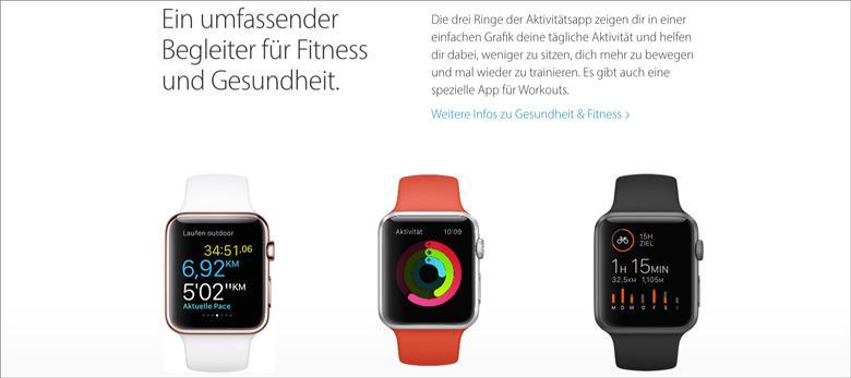 Landingpage Apple Watch