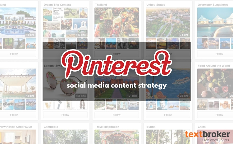 social media content strategy for pinterest