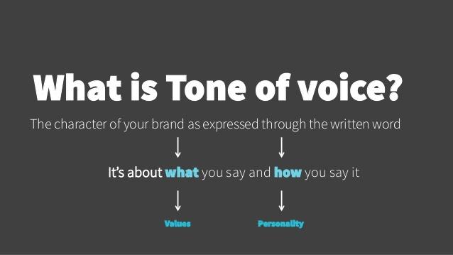consistent voice