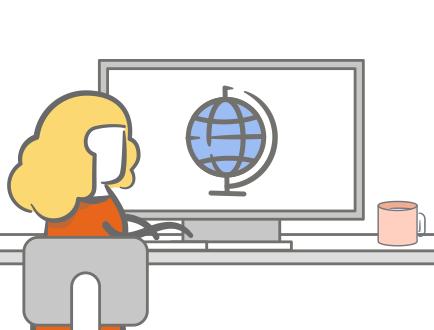 Globe on Computer