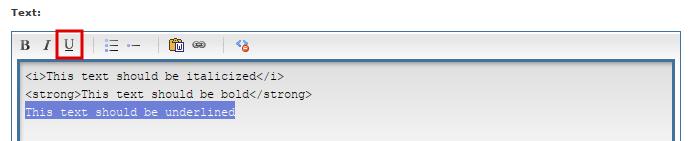 Underline on HTML