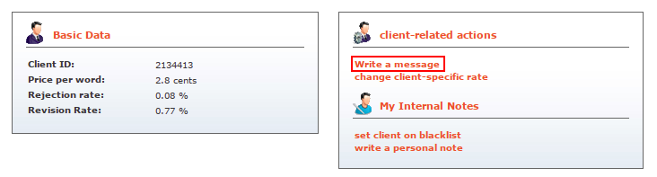messaging clients on Textbroker