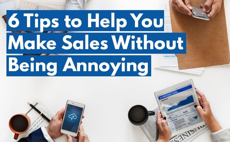 tips for selling without being pushy
