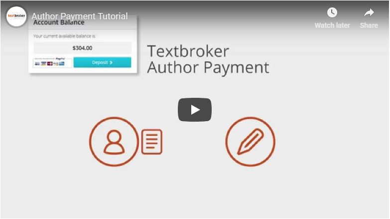 Textbroker Author Payment