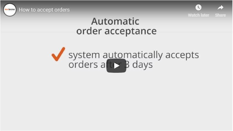 Textbroker Order Acceptance